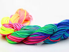 Rainbow color 1mm 28M/roll Chinese Knotting Nylon Thread Cord Wire Beading Rope