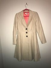 Boden Size 12R Beige Fit N Flare Coat Beautiful!