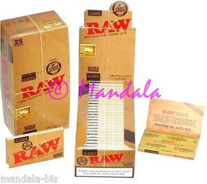 RAW regular Lot de 25 Carnets (Natural Rolling Paper x25 Booklets - Leaves)