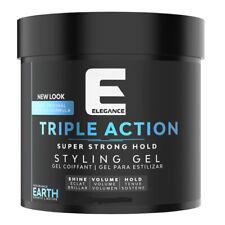 NEW Elegance Triple Action Styling Hair Gel BLUE EARTH 1000ml/35oz FAST SHIP