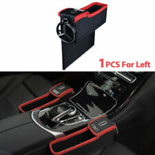 Leather Multi-function Car Storage Box Gap Filler Catcher Phone Holder Organizer