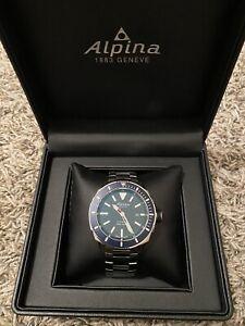 NEW Alpina AL-525LBN4V6B Men's Seastrong Diver 300 Automatic Watch Blue Dial