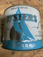Oysters Can Tin.  Chincoteague VA 12 Oz