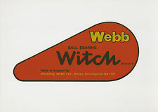 Webb Witch Late Model Vintage Mower Chain Cover Decal