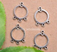 10pcs Tibetan Silver Charm Earring Connectors 19X14mm Jewelry Making D3041