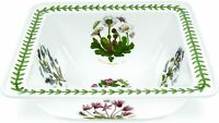 Portmeirion Botanic Garden Square Salad Serving Bowl, 10.5 Inch, Porcelain