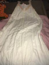 Victoria's Secret Long Cotton Nightgown Dress Nightie Lingerie Sz Small