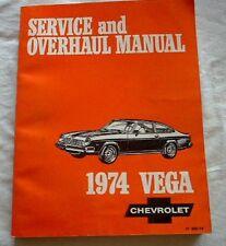 OEM Factory Official 74 1974 Chevy Vega Complete Service Overhaul Repair Manual