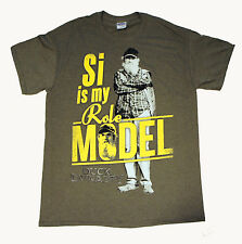 DUCK DYNASTY 'Si is my Role Model' T-Shirt Color: Olive Green Size: Adult Medium