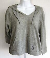 JUICY COUTURE NWT $138 Heather Grey Raglan Sweatshirt Hoodie Women Size L