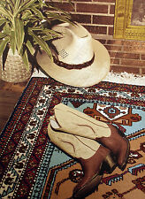 "Paula Crane ""The Right Time"" Hand Signed Serigraph cowboy hat & boots MAKE OFFER"