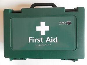 St John Ambulance Workplace Catering wall Fitting First Aid Kit 10 Person- Small