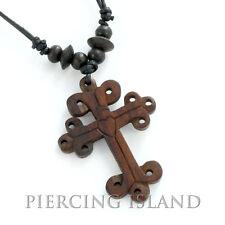 Kreuz Halskette Anhänger Kruzifix Kette Holz Design N161