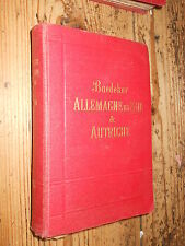 Allemagne du Sud & Austriche Baedeker  ed. 1902 L1 ^