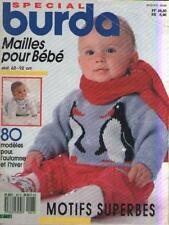 Magazine Spécial Burda Mailles pour Bébé : 80 Modèles pour l'Automne et l'Hiver