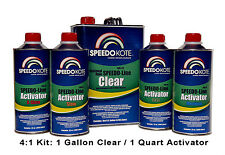 Automotive Clear Coat Fast Dry 2K Urethane, 4:1 Gallon Clearcoat Kit w/Slow Act.