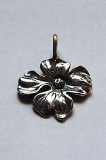 925 Sterling Silver Easter Dogwood Flower Pendant Charm Gift Boxed