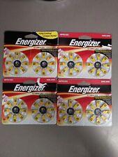 4 Packs Of Energizer Az10Dp-16 Zinc Air Hearing Aid Batteries. 64 Total. Size 10