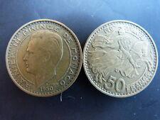 Pièce monnaie MONACO 50 Francs 1950 RAINIER III bon état