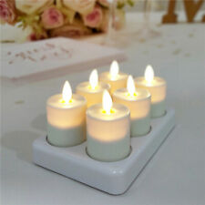 Luminara Rechargeable Flameless Led Tealights Candle with Remote/Timer Set of 6