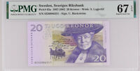 Sweden 20 Kroner ND 1997-2002 P 63 a SUPERB GEM UNC PMG 67 EPQ HIGH