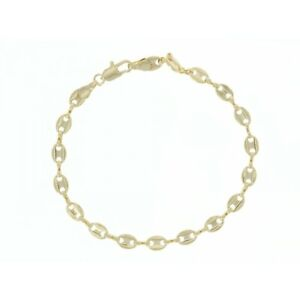 Bracelet Bean Mesh 20cm X 5mm Gold Plated Jewel Mixed