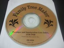 Family Tree Maker Cd #394 - Passenger & Immigration Lists 1538-1940 (Pc, 1998)
