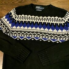 Polo Ralph Lauren Men/'s Cashmere /& Angora Rabbit Hair Crewneck Sweater Fair Isle