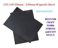 4 PCs of 150mm × 240mm self adhesive Magnetic Sheet - Free POST -CRAFT WORK