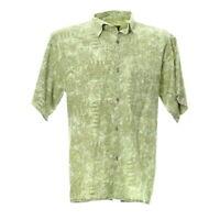 Herren Kurzarmhemd Größe M Vintage Shirt Kentkragen Retro Print Baumwolle