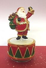 Musical Turning Father Christmas Ornament with Bell  ~ Plays Music! LP28282