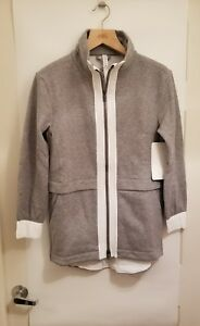 Lululemon Light As Warmth Jacket NWT Sz 2 4 6 8 10 12 HMDG/WHT PrimaLoft Fleece