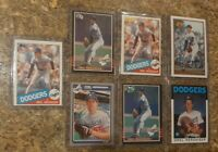 (7) Orel Hershiser 1985 Donruss Fleer Topps OPC Leaf Rookie Card lot RC Dodgers