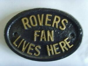 DONCASTER ROVERS VIKINGS FAN FOOTBALL PLAQUE SIGN