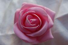 10 Foam Rose & Heather Artifical Buttonholes Weddding Flowers - All Colours