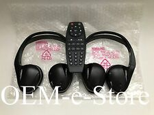 2007 to 2014 Cadillac Escalade Buick Enclave Wireless 2x Headphones + DVD Remote