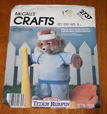 McCalls Pattern #2737 Teddy Ruxpin Bear - Jogging Outfit - Uncut - 1986 Vintage