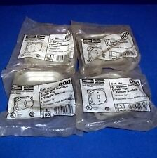 """HUBBELL 4"""" SIZE SQUARE SURFACE COVER TOOGLE SWITCH NO 800 *LOT OF 4 NEW*"""