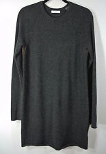 NEW Equipment Crewneck Cashmere Dress- Charcoal Grey M $338