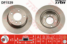 Bmw 316ti Compact E46  Rear Brake Disc's 01-05 280mm solid