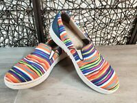 DANSKO - Sz EUR 41 -  Belle Multi-Color Slip On Canvas Loafer Comfort Shoes