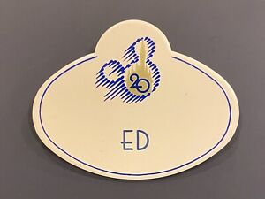 Walt Disney World 20th Anniversary Ed Cast Member Name Tag Badge