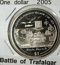 2005 $1 Battle of Trafalgar British Virgin Islands Commemorative BU Coin