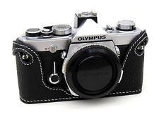 Cuir OLYMPUS OM1, 2, 3, 4 noir blanc avec surpiqûres demi-CASE-BRAND NEW