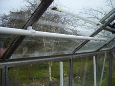 2 m tube greenhouse rail with clamps for Aluminium greenhouses