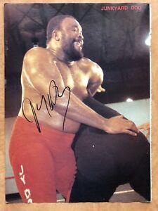 Junkyard Dog JYD Signed Auto Autographed Magazine Photo WWF WWE WCW