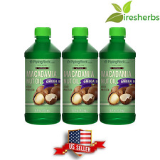 100% Pure Virgin Macadamia Nut Oil Fatty Acids Cold Pressed Cooking Oils 48 Oz