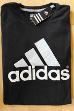 NWT ADIDAS MEN'S Big & Tall Black/White Logo Go To Performance T-Shirt 3XLT