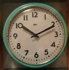 """10"""" Round Wall Clock Comes in RED,BLACK & TEAL for Home Office School"""