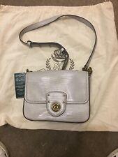 Bnwt Lauren Ralph Lauren Grey Millbrook Leather Chain Xbody Crossbody Bag